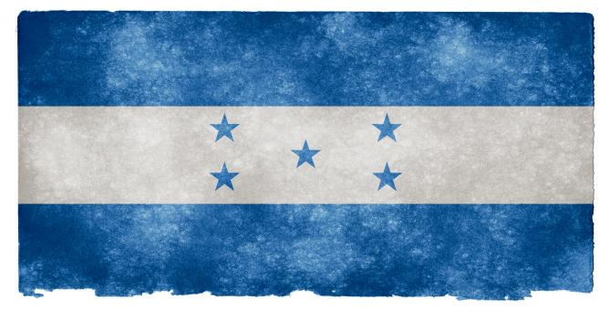 Free Stock Photo of Honduras Grunge Flag