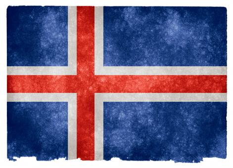 Free Stock Photo of Iceland Grunge Flag