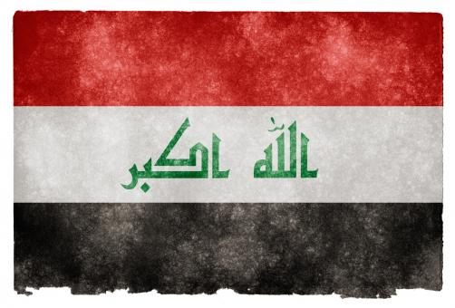 Free Stock Photo of Iraq Grunge Flag