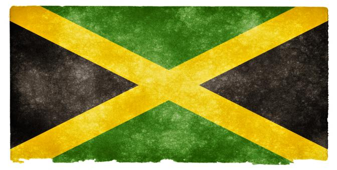 Free Stock Photo of Jamaica Grunge Flag