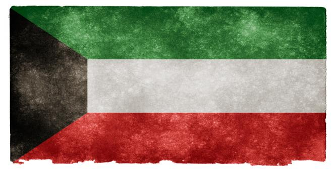 Free Stock Photo of Kuwait Grunge Flag