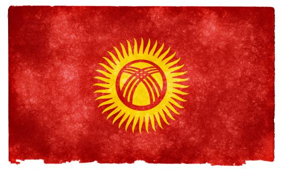 Free Stock Photo of Kyrgyzstan Grunge Flag