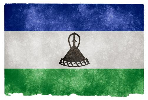 Free Stock Photo of Lesotho Grunge Flag