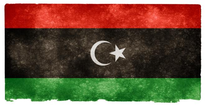 Free Stock Photo of Libya Grunge Flag