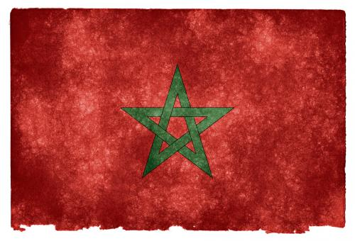 Free Stock Photo of Morocco Grunge Flag
