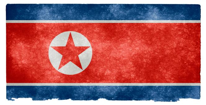Free Stock Photo of North Korea Grunge Flag