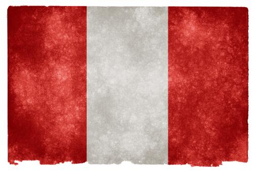 Free Stock Photo of Peru Grunge Flag