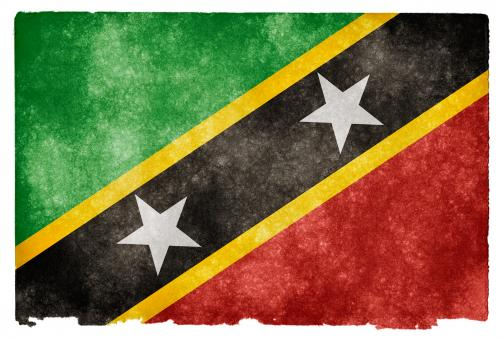 Free Stock Photo of Saint Kitts and Nevis Grunge Flag