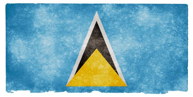 Free Stock Photo of Saint Lucia Grunge Flag