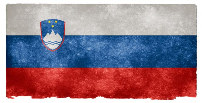 Free Stock Photo of Slovenia Grunge Flag