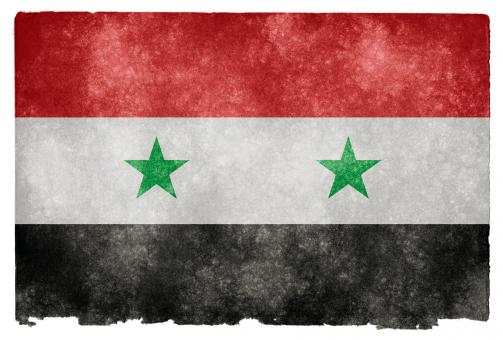 Free Stock Photo of Syria Grunge Flag