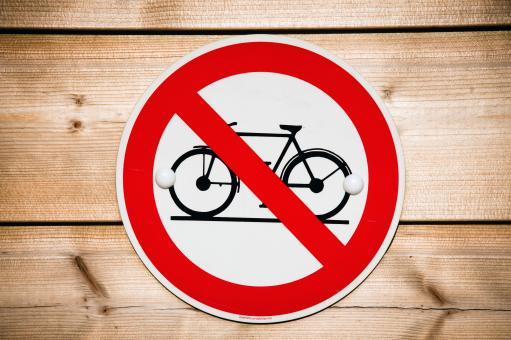 Free Stock Photo of No bicycle sign