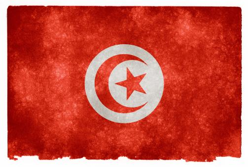 Free Stock Photo of Tunisia Grunge Flag