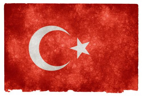Free Stock Photo of Turkey Grunge Flag