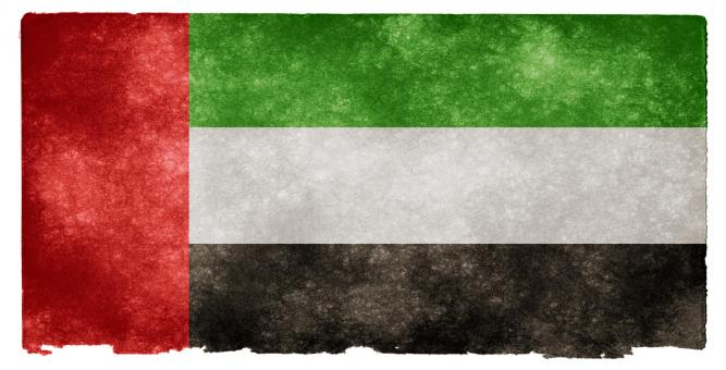 Free Stock Photo of UAE Grunge Flag