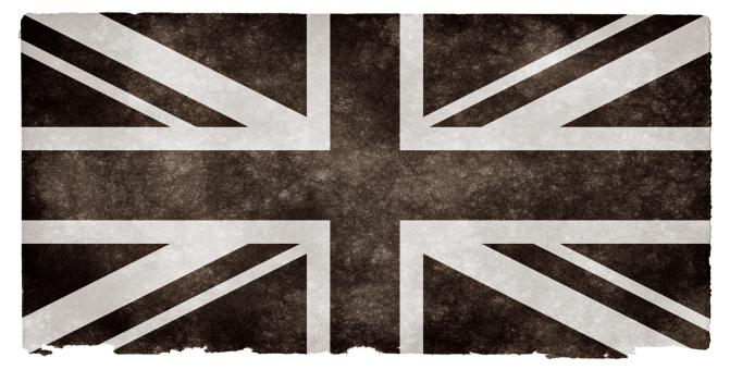 Free Stock Photo of UK Grunge Flag - Black and White