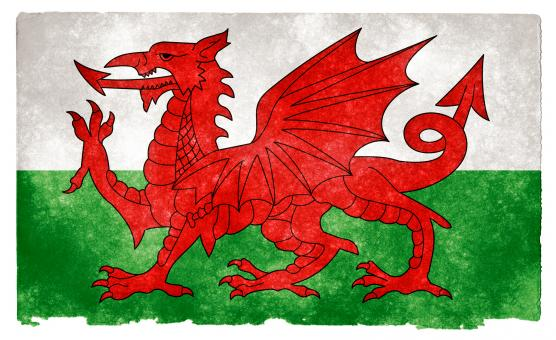 Free Stock Photo of Wales Grunge Flag
