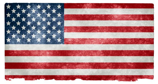 Free Stock Photo of USA Grunge Flag