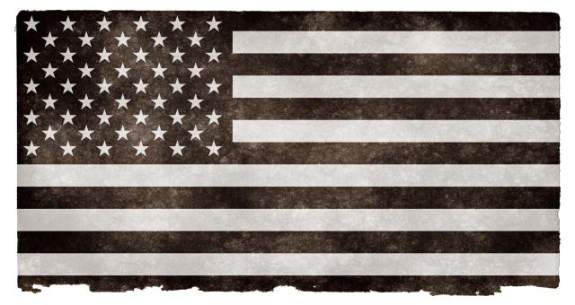 Free Stock Photo of USA Grunge Flag - Black and White