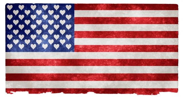 Free Stock Photo of USA Love Grunge Flag