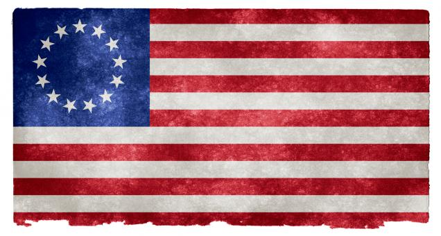 Free Stock Photo of USA Betsy Ross Grunge Flag