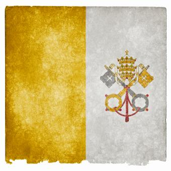 Free Stock Photo of Vatican Grunge Flag