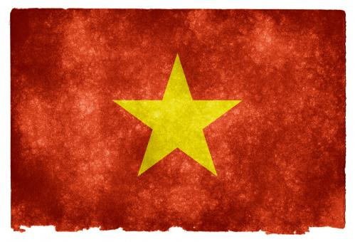 Free Stock Photo of Vietnam Grunge Flag