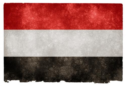 Free Stock Photo of Yemen Grunge Flag