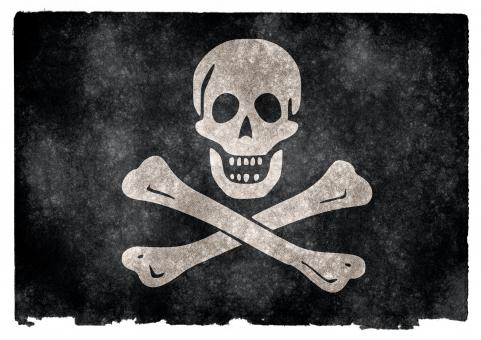 Free Stock Photo of Jolly Roger Grunge Flag
