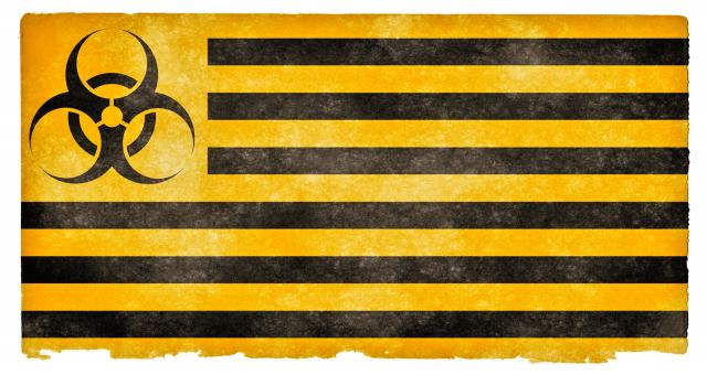 Free Stock Photo of Biohazard Grunge Flag