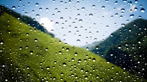 Free Stock Photo of Waterdrops on window