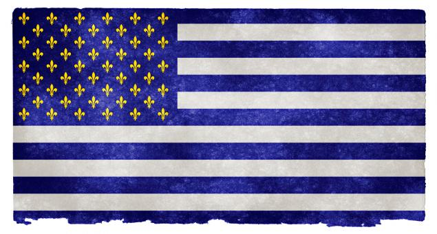Free Stock Photo of USA Fleur-de-Lys Grunge Flag