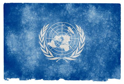 Free Stock Photo of United Nations Grunge Flag