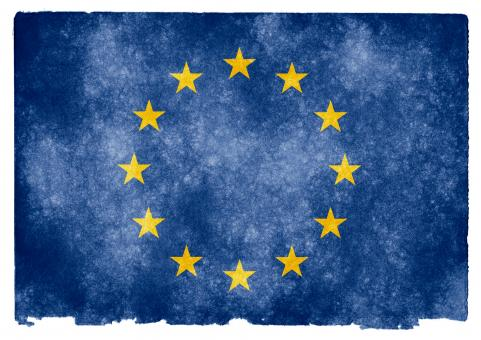 Free Stock Photo of European Union Grunge Flag