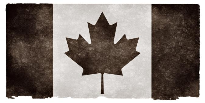 Free Stock Photo of Canada Grunge Flag - Black and White
