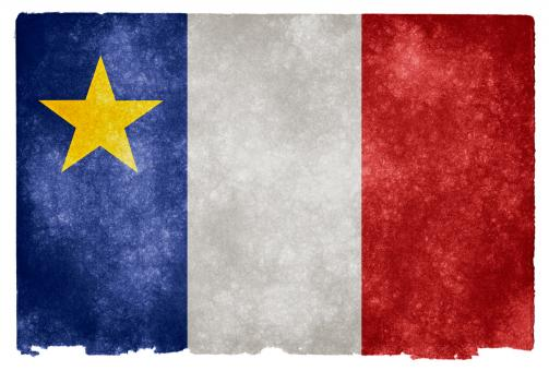 Free Stock Photo of Acadian Grunge Flag