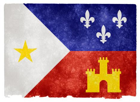 Free Stock Photo of Acadiana Grunge Flag