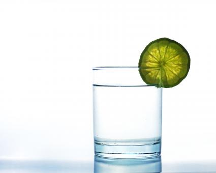 Free Stock Photo of  Glass with lime