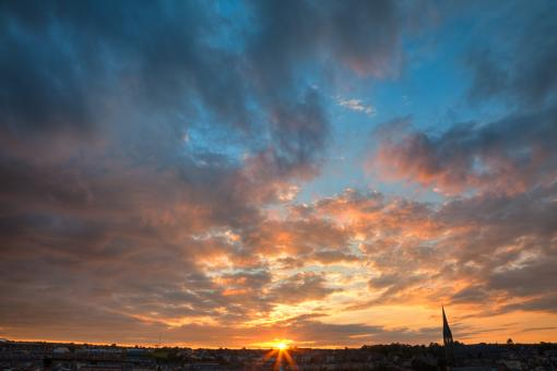 Free Stock Photo of Derry Sunset - HDR