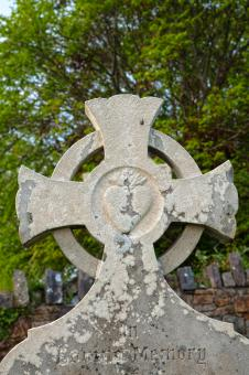 Free Stock Photo of Donegal Cemetery Celtic Cross - HDR