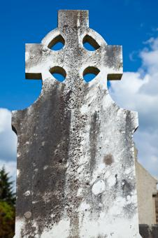 Free Stock Photo of Donegal Cemetery Celtic Cross
