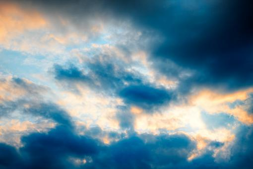 Free Stock Photo of Sunset Clouds - HDR