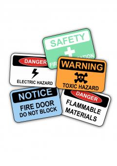 Free Stock Photo of Workplace Safety Signs