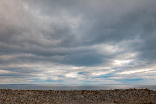Free Stock Photo of Coastal Clouds - HDR
