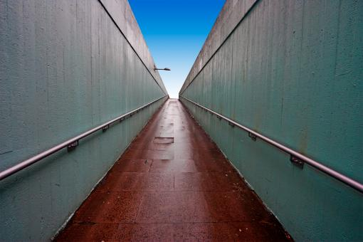 Free Stock Photo of Wide-Angle Underpass