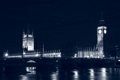 Free Stock Photo of London Parliament at Night