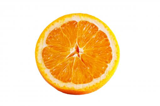 Free Stock Photo of Orange - Sliced in Half