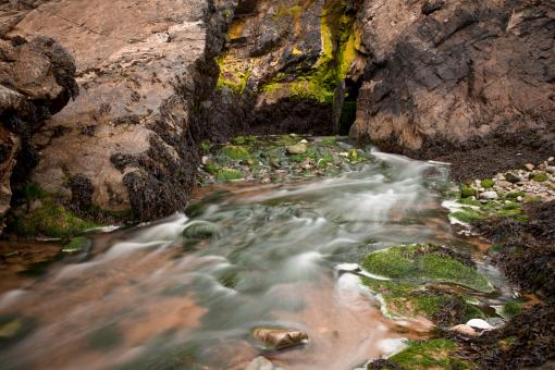 Free Stock Photo of Annestown Beach Water Stream