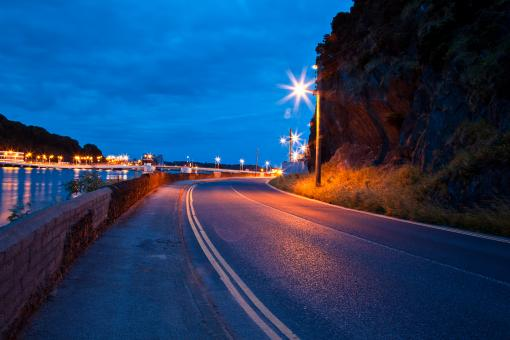 Free Stock Photo of Waterford Twilight Street Scene