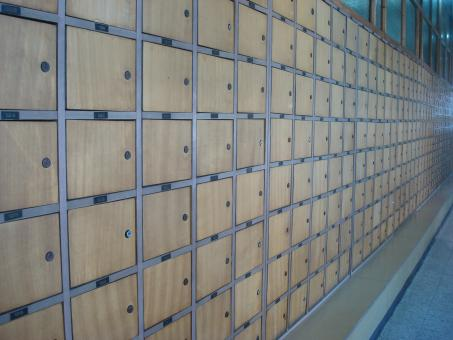 Free Stock Photo of Post office mail boxes